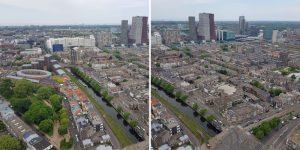 Den Haag gezien vanaf The Penthouse